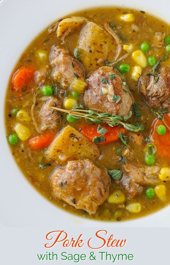 Pork Stew with Sage and Thyme