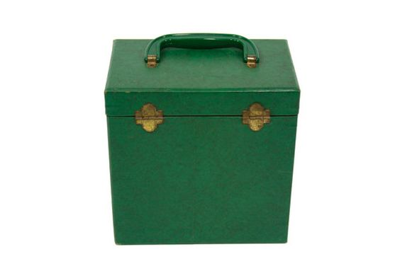 Groovy Green Record Case by PhatHeads on Etsy