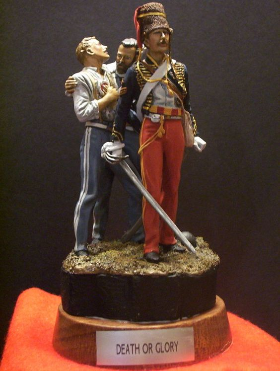 Return of the Light Brigade, 80mm vignette from 'Tradition' ,painted by yours truly.