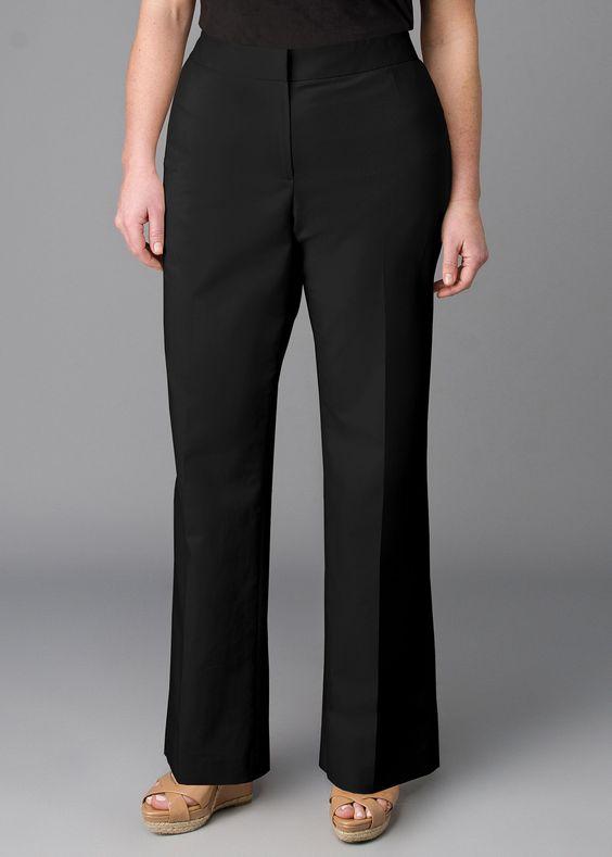 Plus-Size Metropolitan Stretch Menswear Pant | Lafayette 148 New York