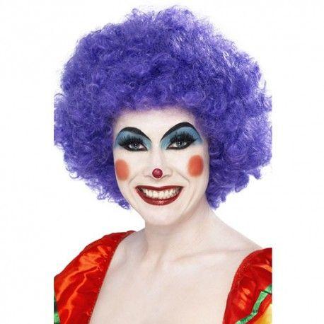 Perruque clown fou violet