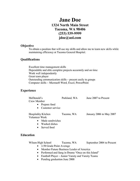 resume for fastfood Fast Food Resume Examples resume - resume for fast food