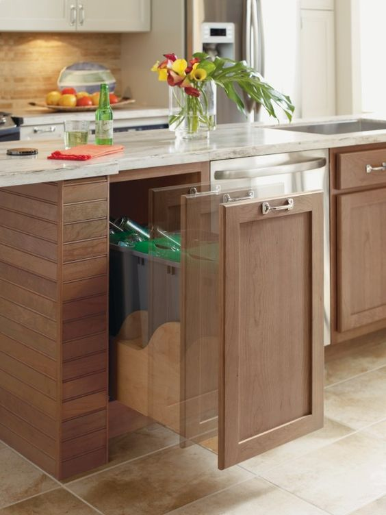 The Omega Cabinetry Electronic Assisted Hands Free Trash