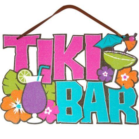 Tiki Bar Sign 1m Hawaiian Decoration Pinterest