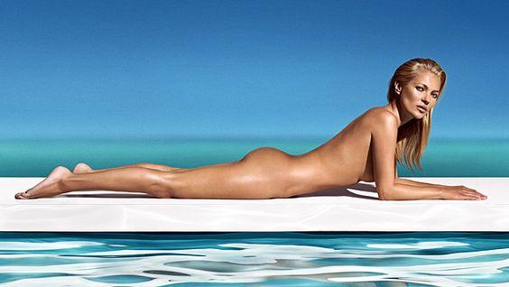 Makellos braun und mit Super-Body präsentierte sich Kate Moss unlängst für einen Selbstbräuner. (Bild: Viennareport)