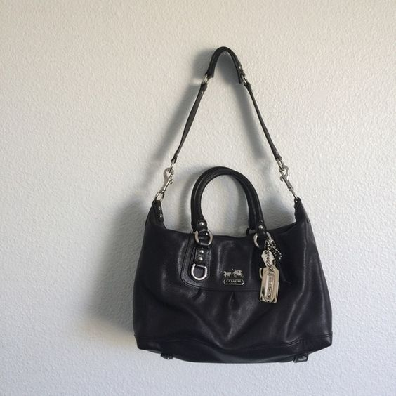 Coach Madison Sabrina Black Leather 12937 Authentic Bag Received From An Ex 1086c 7ff59