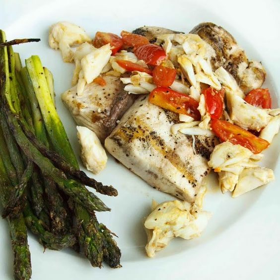 Mahi-Mahi with crab meat in a scampi sauce