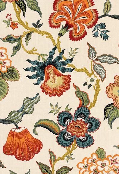 Hot House Flowers Schumacher Fabric