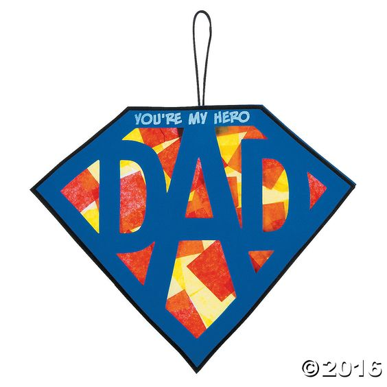 Celebrate a fantastic father with this DIY sign! A wonderful craft kit for kids to create a thoughtful Father's Day gift, add it to your Sunday School ...: