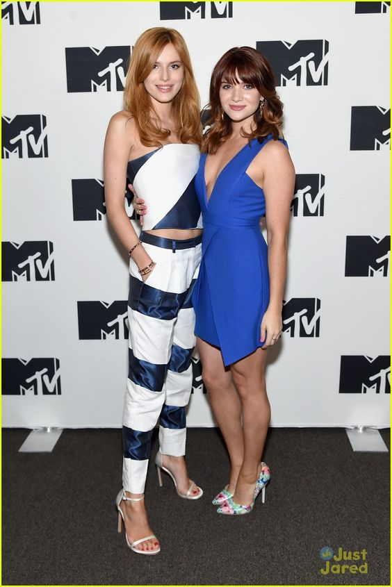 Bella Thorne and Katie Stevens at the MTV Upfronts 2015