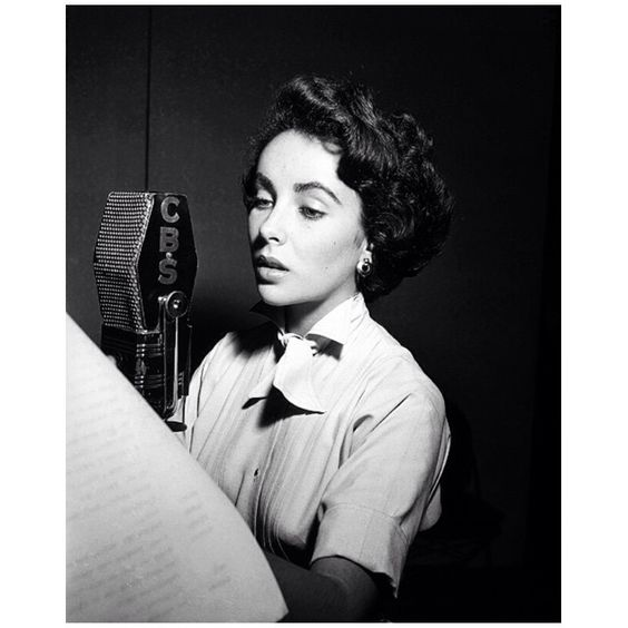 Elizabeth on the radio, early 1950s.