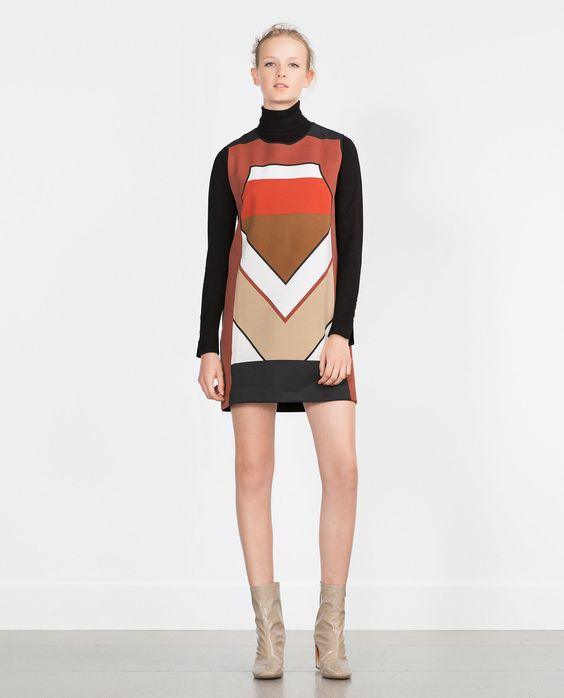 ZARA - WOMAN - COLOR BLOCK DRESS