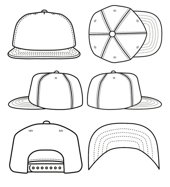 photo collection pin baseball hat template