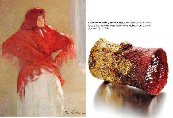 OFF JOYA 2016 -  -  confluences - Ramon Casas chica con manto rojo - Lucia Massei bracelet