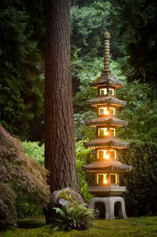 Lantern Light at the Portland Japanese Garden. #portlandjapanesegarden