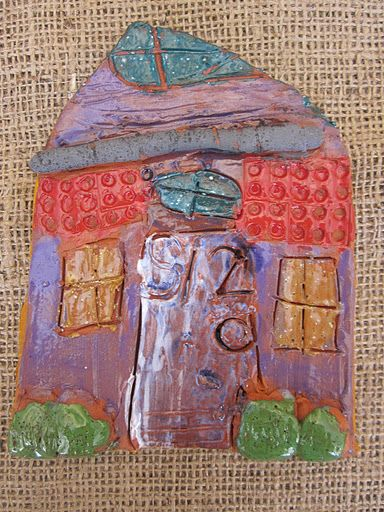 Paper burlap and clay houses on pinterest for Paper clay projects