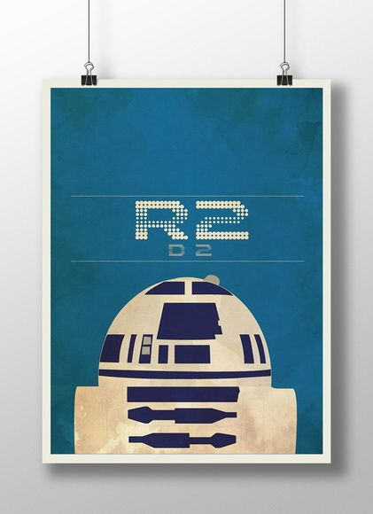 Combo com 3 Posters Star Wars
