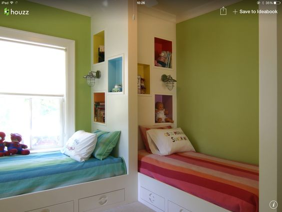 Une seule chambre pour 2 enfants? Chacun aura quand même son espace...