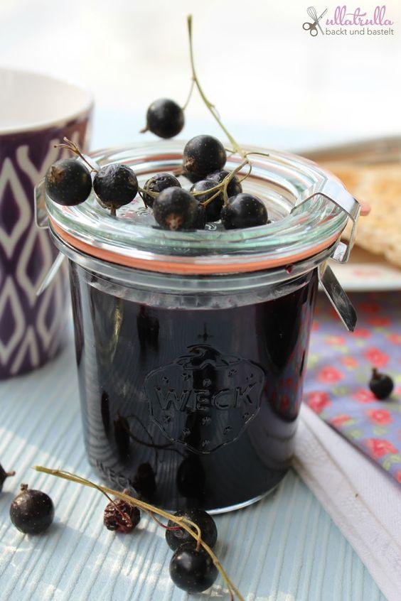 ullatrulla backt und bastelt: Wenn ich groß bin, möchte ich einen Garten haben | Schwarze Johannisbeer-Marmelade
