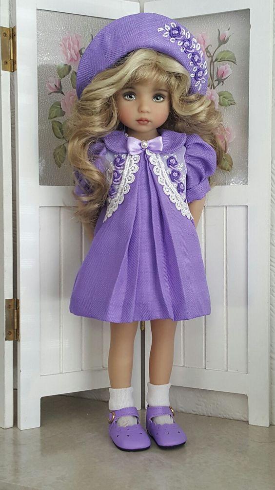 Handmade Vintage style dress set made for Effner Little darling dolls: