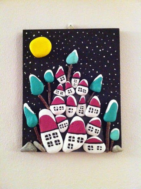 sassi dipinto : Quadro con sassi dipinti... SASSI Pinterest