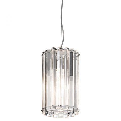 Crystal Skye Collection from Kichler Lighting.  Polished chrome finish with lead free optical crystals mini pendant.  View entire collection at www.garbes.com