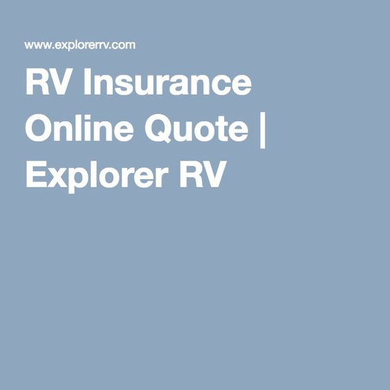 Rv Insurance Quote Adorable Www.explorerrvrvquoteoption  Specialty Rv Insurance . Decorating Inspiration