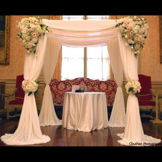 Jewish Wedding Altar Called: Chuppah.. I Like The Draping Fabric In This Chuppah