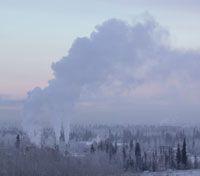 L'inversione termica favorisce il ristagno di sostanze inquinanti a livello del suolo