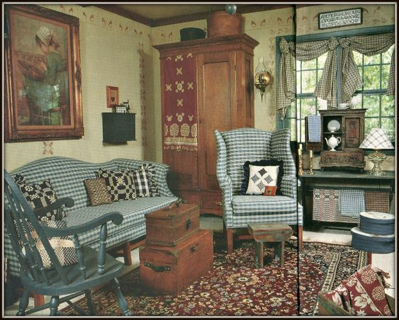 Primitive Living Room, Red Floor And Living Rooms On Pinterest