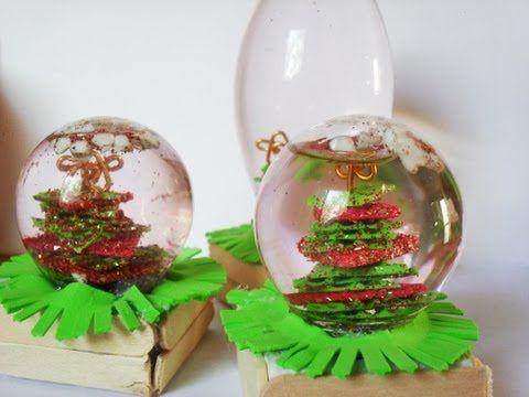 Bolas Navideñas / Bolas de Nieve - Reciclado de Focos ♡ Bruja Creativa - YouTube
