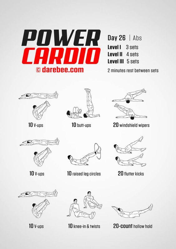 Power Cardio 30 Day Fitness Program Boxing Training Workout Boxing Workout Boxer Workout