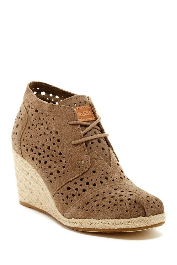 Moroccan Wedge Bootie by TOMS on @nordstrom_rack