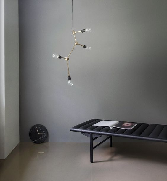 Franklin Chandelier, Daybed and Marble Wall Clock.