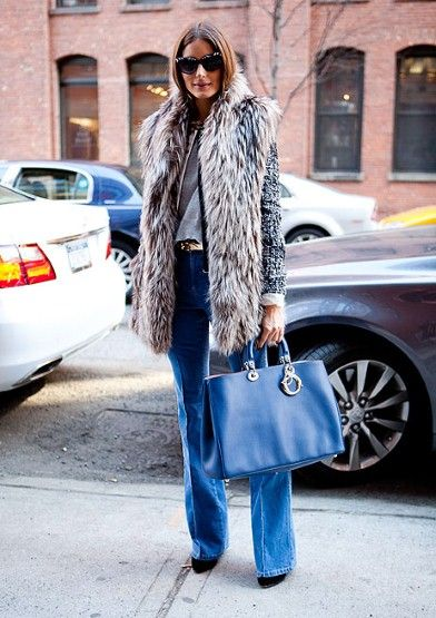How to Wear the Cool Blues Trend for Fall