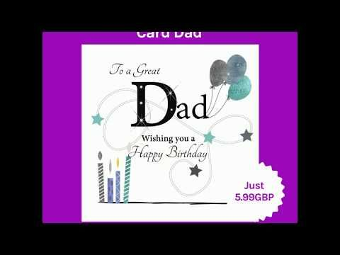 Large Birthday Card Dad A Fab New Large Birthday Card For Dad Design By Rush Design Features Large Bir Dad Birthday Card Birthday Cards Dad Birthday