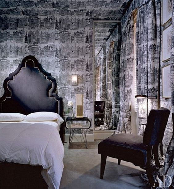 Bedroom Wallpaper Designs Black And White Bedroom Furniture For Teenagers Bedroom Door Curtains Diy Kids Bedroom Decor: Gothic Bedroom With A 50s Twist And Crazy Black And White