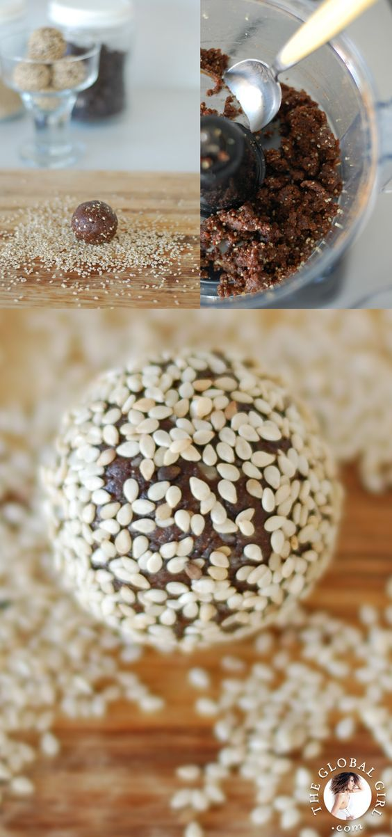 theglobalgirl Raw Food Recipes: Chocolate Sesame Balls. This super ...