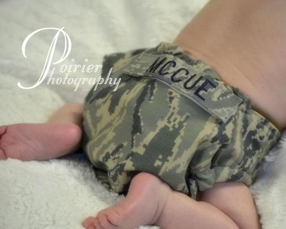 SO CUTE! I of course would get a NAVY one.. because well, you know ;) Air Force ABU Military Baby Cloth Diaper Cover with by FashionBums