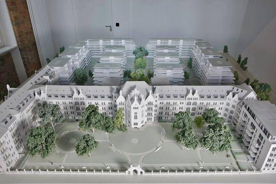 Der Entwurf von Architekt Carlos Zwick ergänzt die denkmalgeschützte Altbausubstanz durch lichtdurchflutete Neubauten...