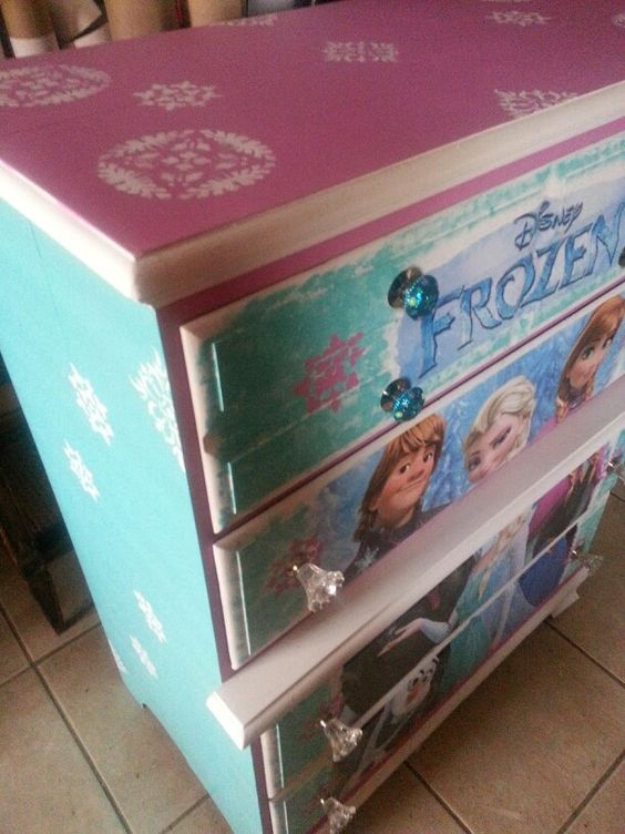 Cheap Bedroom Sets Kids Elsa From Frozen For Girls Toddler: We Created This Beautiful Frozen Dresser. It Turned Out