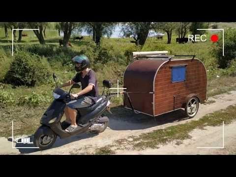 Dom Na Kolesah Dlya Moto Svoimi Rukami Camper For Moto Youtube V 2020 G Dom Na Kolesah Kempery Dom