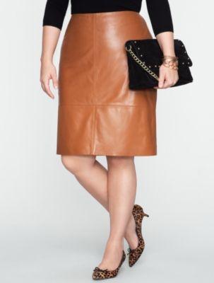 Talbots - Leather Pencil Skirt  | Skirts  | Woman Petites