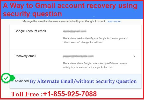 A Way To Gmail Account Recovery Using Security Question Account