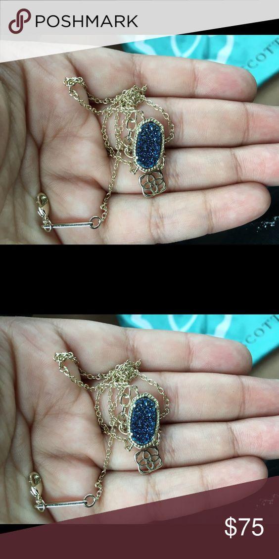 Blue Druzy necklace Necklace new old stone Kendra Scott Jewelry Necklaces