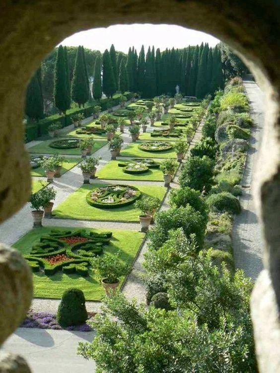 Jardines del Vaticano. Roma Italia