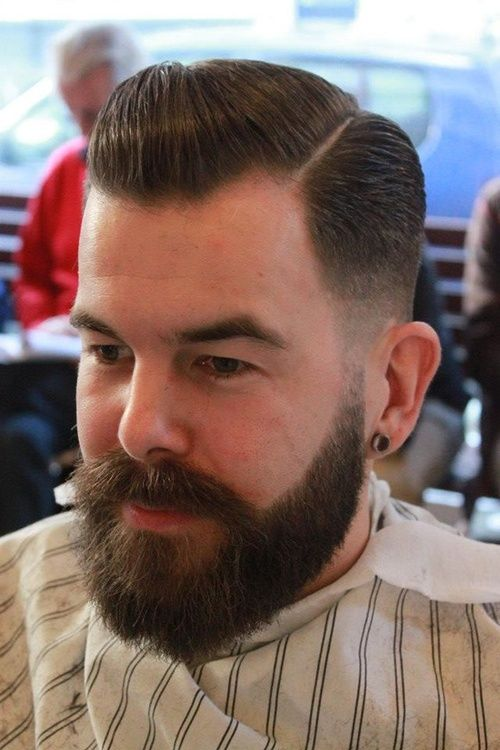 beard and hair style my pompadour and pompadour fade on 9850 | ecbc7cd96f42a93fbb406e4f4d8edfdb