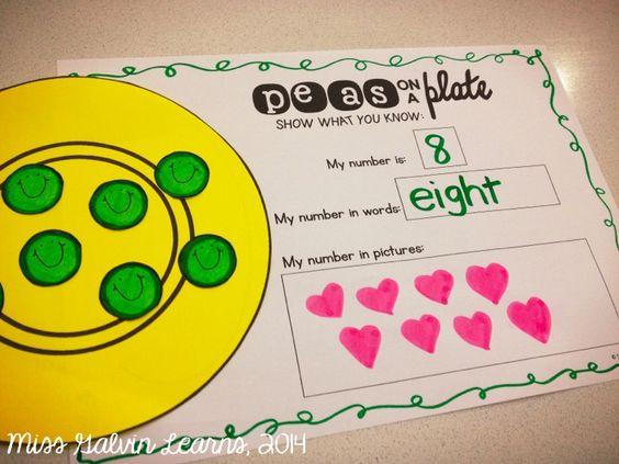 Peas on a Plate Craftivity Freebie!