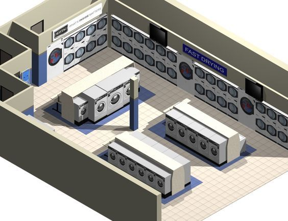 Coin Laundry Layout Loomis Bros Laundry Consulting Services