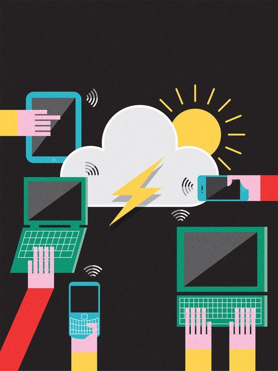 FM World magazine cover by John Devolle, via Behance